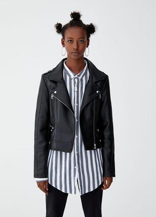 Базовая куртка косуха pull&bear