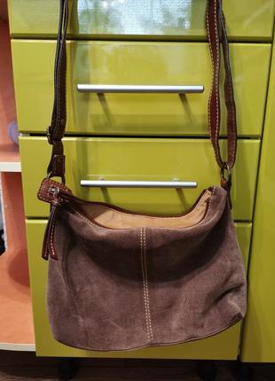 Замшевая сумочка3 фото
