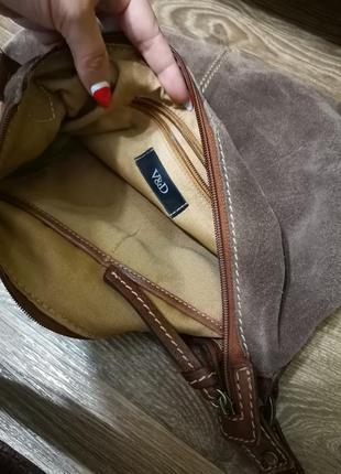Замшевая сумочка5 фото
