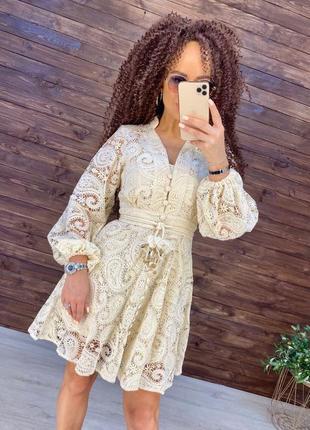 Хлопковое кружевное платье