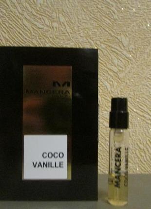 Парфюмированная вода coco vanille mancera остаток 1 мл