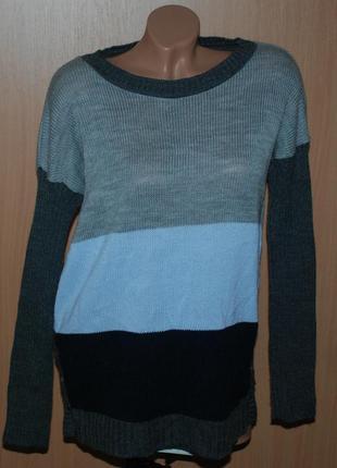 Кофточка бренда numinou ( польша) / приспущены плечи/ серо-голубой расцвет/