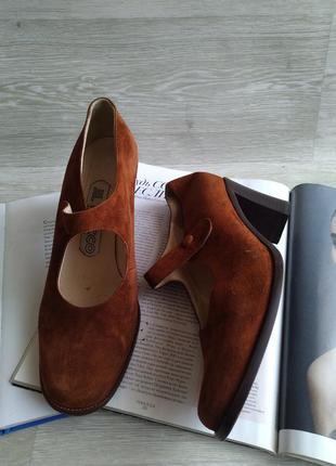 Рыжие кожаные туфли