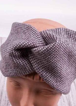 Повязка чалма, теплая повязка для волос