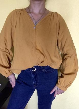 Блузка, рубашка с широким рукавом, кофта с широким рукавом