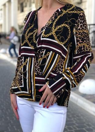 Блуза в запах