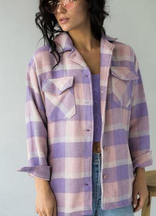 Тёплая рубашка в клетку- идеальна для осени