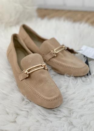 Кожаные лоферы оксфорды туфли мокасины mohito
