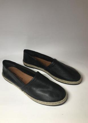 Фирменные кожаные туфли, эспадрильи от 5th avenue 39