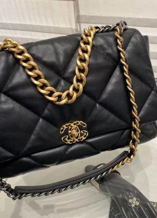 Кожаная сумка в стиле chanel {разные цвета}