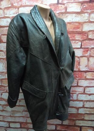 Куртка кожаная винтажная 80-е