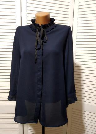 Шифоновая блузка с завязкой