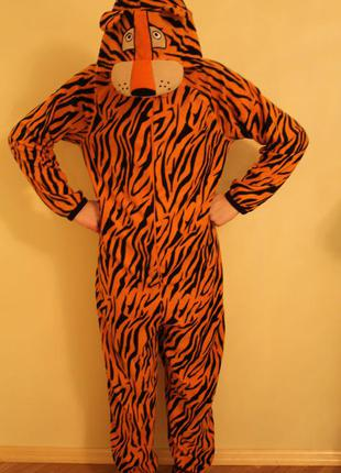 Пижама кигуруми слип человечек размер xs, тигр, cedarwood state