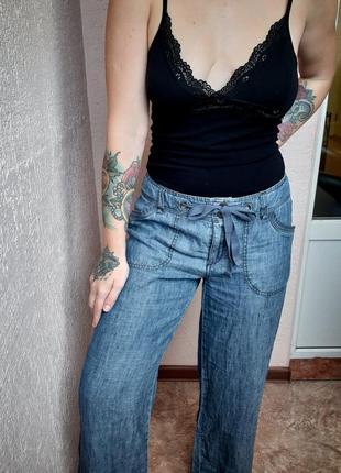 Джинсы прямые, джинсы клёш, штаны  клеш