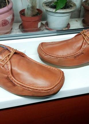 """Редкие прочные кожаные мокасины """"lonsdale"""", англия! оригинал! 45 р."""