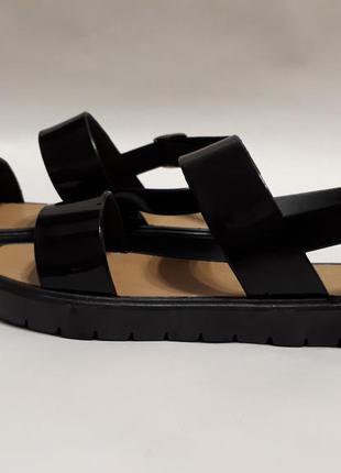Черные силиконовые босоножки (сандалии)