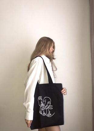 Шопер, тканевая сумка, тканинна сумка, еко торбинка, эко сумка