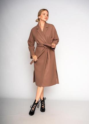 Пальто демисезонное из кашемира