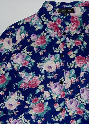 Сорочка в актуальний в цьому сезоні квітковий принт new look блуза цветочный принт