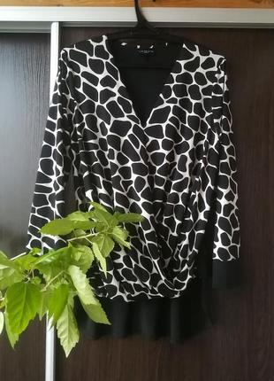 Красивая, стильная, оригинальная блуза кофта батал live unlimited