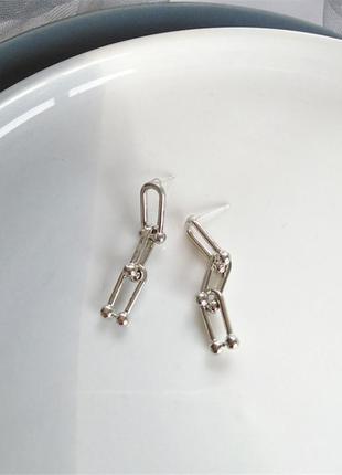 Серьги серёжки цепи цепочки в стиле тиффани новые