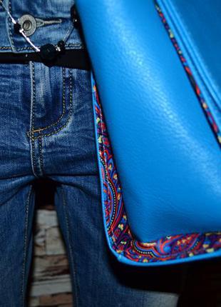 Модельная сумка с принтом!