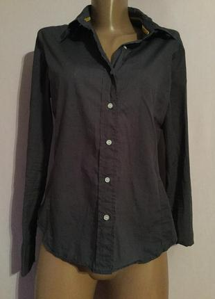 Серо-синяя рубашка фирменная низкая цена