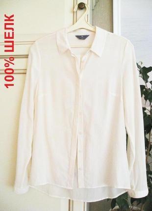Премиум блузка рубашка tu, silk 100% шелк (укр 40/42, uk 10)