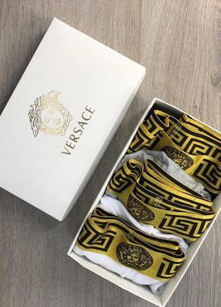 Нижнее белье versace pack 3 gold white-black-gray