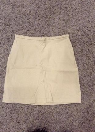 Кремовая юбка s размер