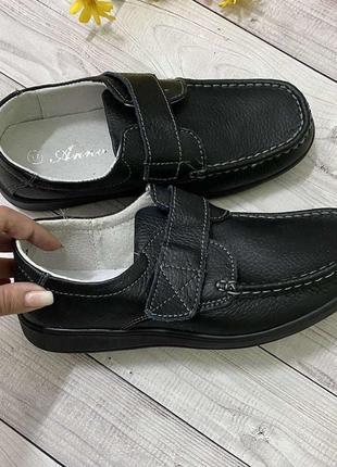 Натур шкіра туфлі мокасини(уні модель)