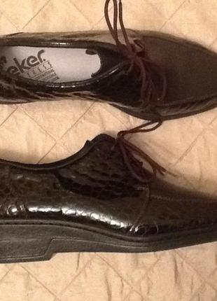 Новые немецкие кожаные туфли 41на широкую ногу