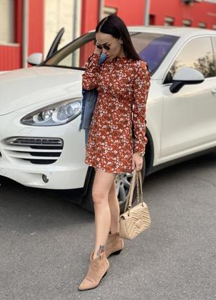 Платье (цветочный принт) zara