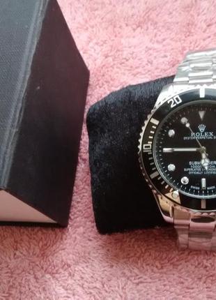 Елітний годинник чоловічий rolex + коробка (часы мужские)