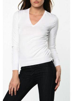 Базовый джемпер с v-образной горловиной/пуловер marks & spencer, размер m(10)