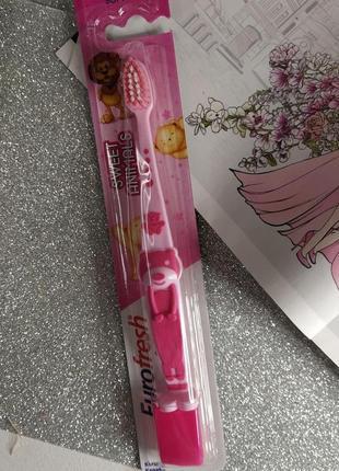 Детская зубная щетка для  девочек