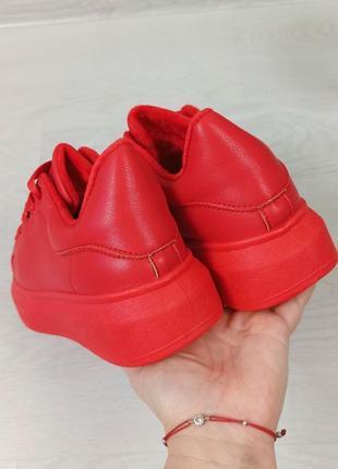 Кросівки кріпери кроссовки кроссы криперы красные утеплённые на меху4 фото