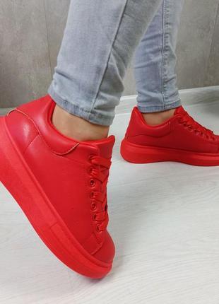 Кросівки кріпери кроссовки кроссы криперы красные утеплённые на меху7 фото