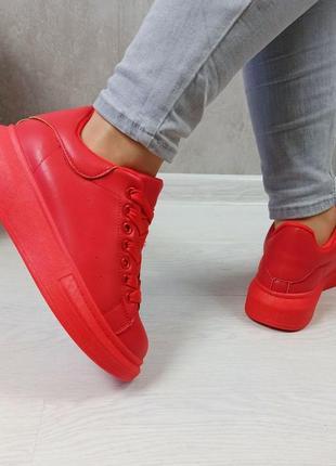 Кросівки кріпери кроссовки кроссы криперы красные утеплённые на меху8 фото