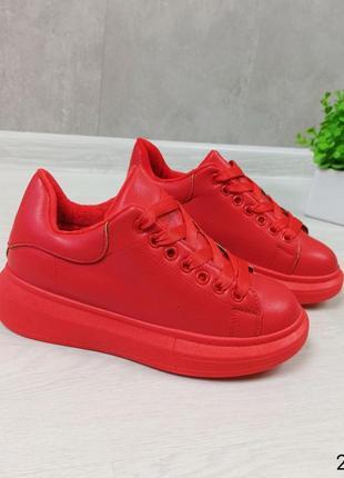 Кросівки кріпери кроссовки кроссы криперы красные утеплённые на меху