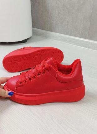 Кросівки кріпери кроссовки кроссы криперы красные утеплённые на меху3 фото