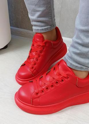 Кросівки кріпери кроссовки кроссы криперы красные утеплённые на меху10 фото