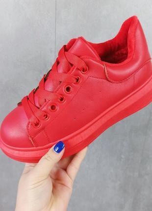 Кросівки кріпери кроссовки кроссы криперы красные утеплённые на меху5 фото