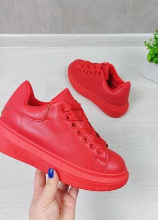 Кросівки кріпери кроссовки кроссы криперы красные утеплённые на меху2 фото