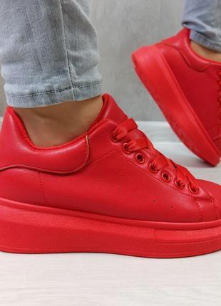 Кросівки кріпери кроссовки кроссы криперы красные утеплённые на меху9 фото