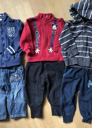 Комплект речей  ( джинси , спортивні штани , светри )