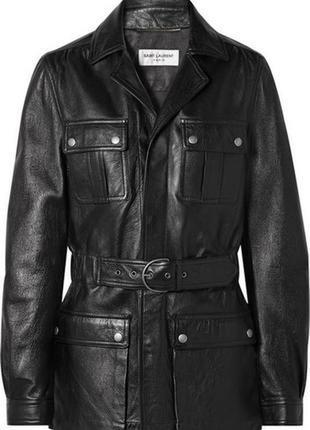 Трендовая удлиненная кожанка куртка, курточка натуральная кожа rock and blue