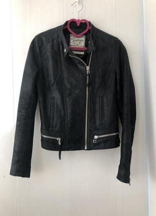 Кожаная куртка пиджак косуха, натуральная кожа, шкіряна косуха
