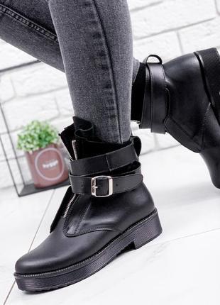 Ботинки женские oli черные  деми