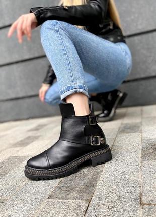Стильные женские ботинки натуральная кожа